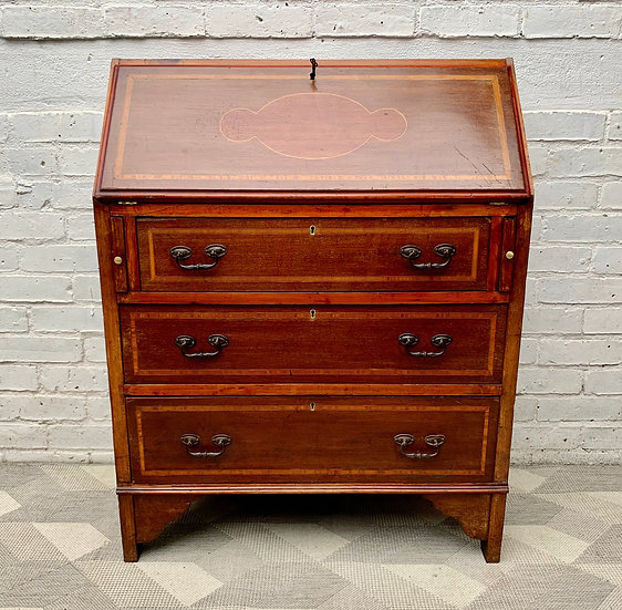 Vintage Bureau Desk with Drawers #D479