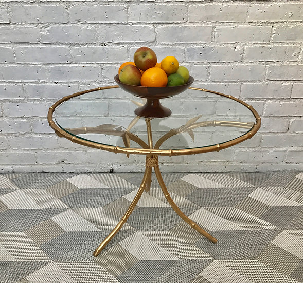 Vintage Round Glass Coffee Table #439