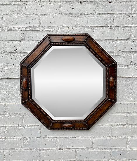 Vintage Deco Octagonal Mirror #D75