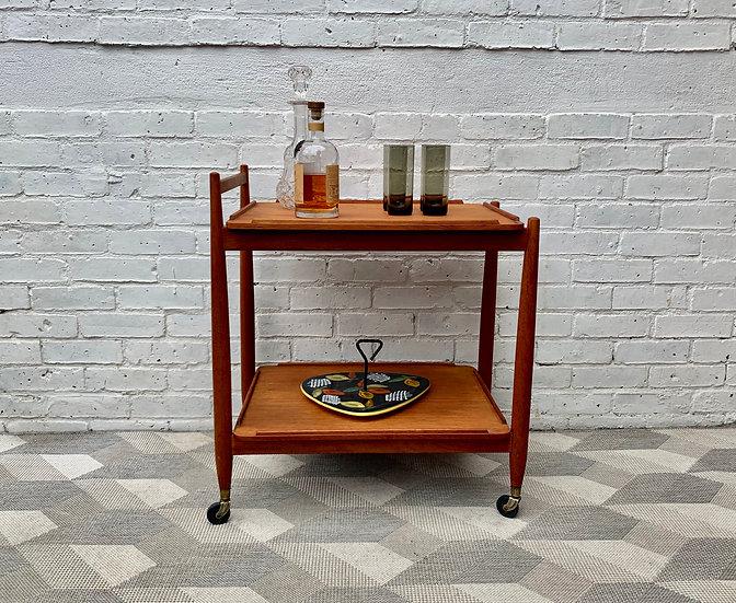 Vintage Teak Drinks Trolley by White & Newton #D31