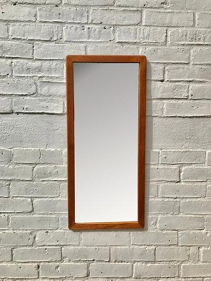 Vintage Teak Wall Mirror Rectangular #799