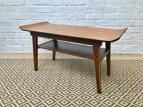 Mid Century Coffee Table with Shelf #342