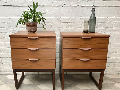 Vintage Retro Pair of Bedside Tables #836