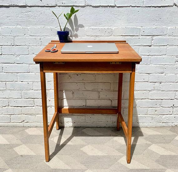 Vintage Folding Wooden Desk by ESA #D387