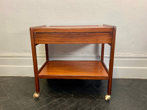 Vintage Drinks Trolley Bar Cart with Drawer #D17