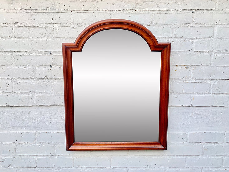 Vintage Antique Wall Mirror Wooden Frame front