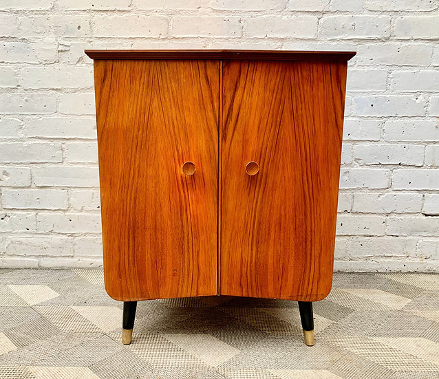 Small Vintage Record Cabinet front