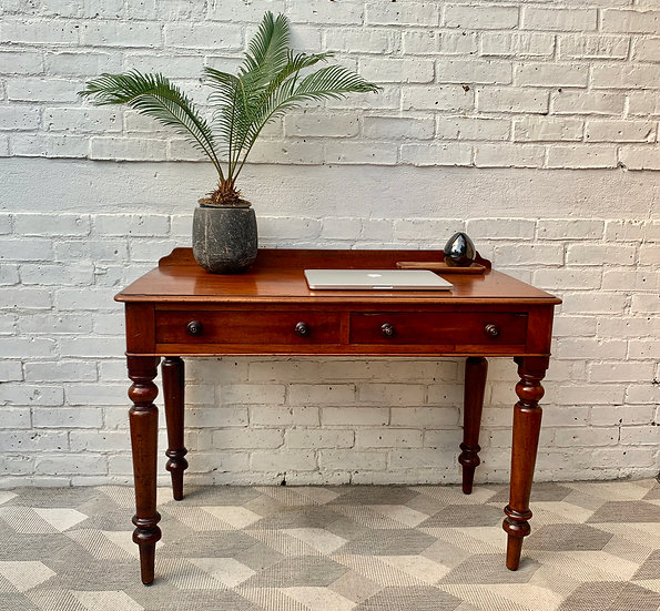 Victorian Wooden Desk with Drawers #D105