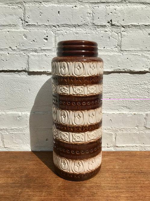 Vintage West German Vase Tall Brown front