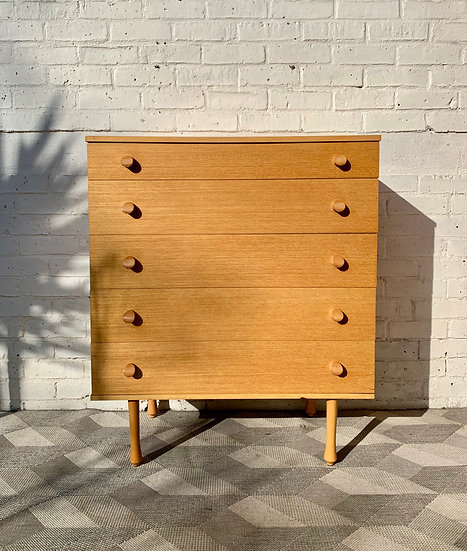 Vintage Chest of Drawers Bedroom Avalon #D9