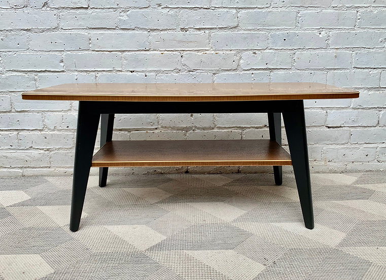 Vintage Coffee Table With Shelf Formica