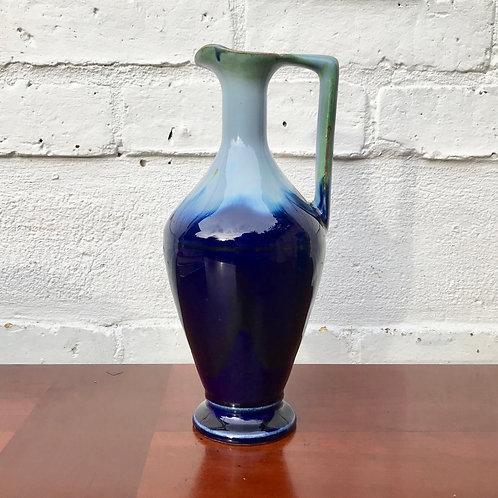 Vintage Blue Jug Vase #583