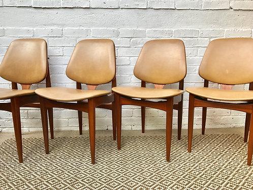Elliotts of Newbury Vintage Vinyl Dining Chairs #403