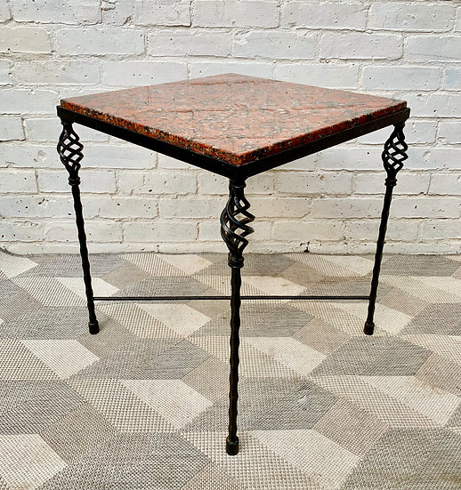 Side Table Coffee Table Red Granite #909