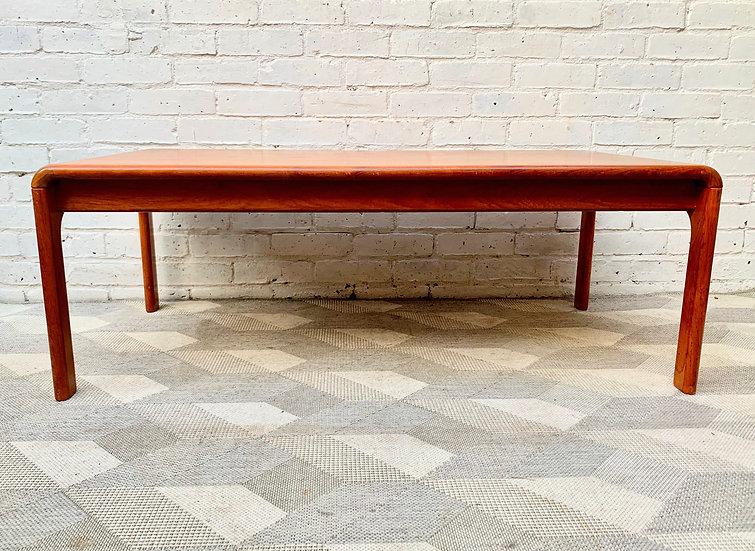 Large Vintage Teak Coffee Table side