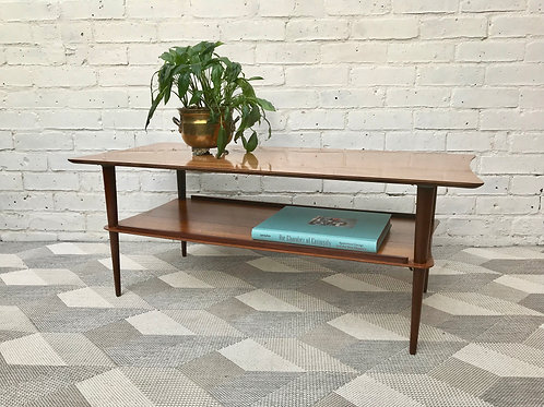 Vintage Retro Coffee Table With Shelf #516
