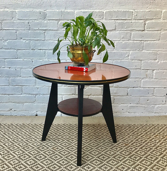 Round Vintage Retro Coffee Side Table #354