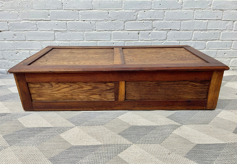 Vintage Wooden Blanket Box Under Bed Storage