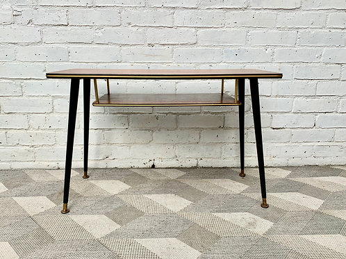 Vintage Side Coffee Table With Shelf