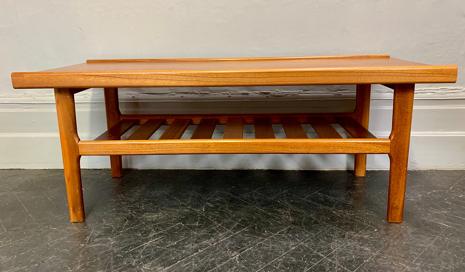 Vintage Coffee Table with Shelf #D121