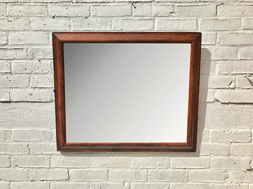 Antique Wall Mirror Wood Frame Beveled #813
