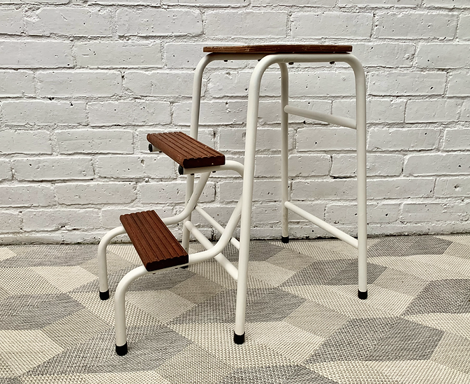 Vintage Folding Step Stool Metal