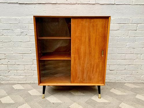 Vintage Cabinet Bookshelf Glass Door #D485