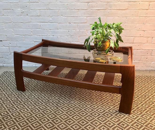 G Plan Glass Coffee Table with Shelf #347