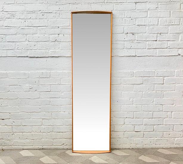 Vintage Wall Mirror Wood Frame  portrait