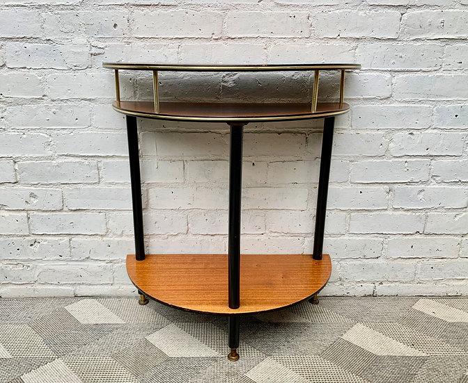 Vintage Crescent Side Table Hallway Table #D214