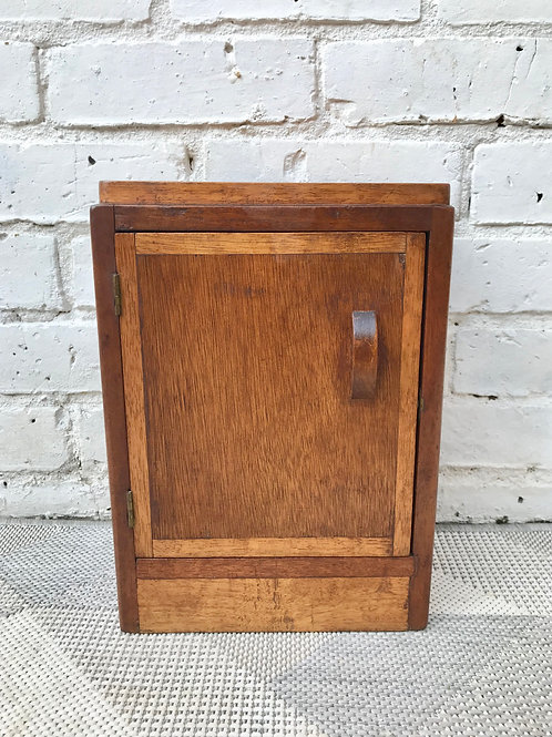 Small Vintage Deco Box Cabinet Wooden #658