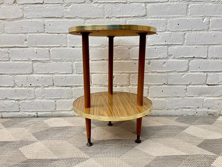 Vintage Round Formica Side Table side