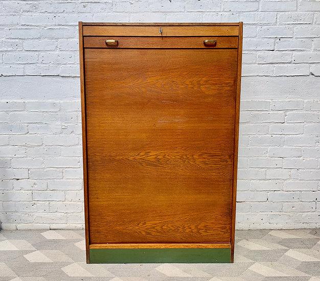 Vintage Tambour Filing Cabinet Haberdashery #D315