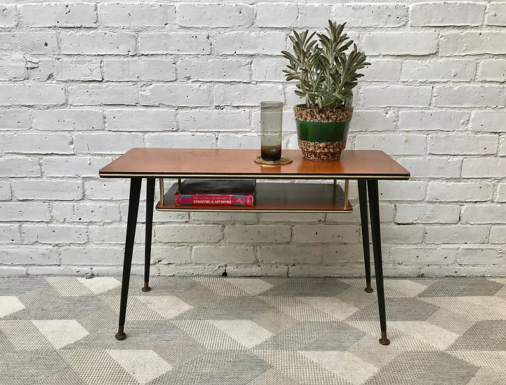Vintage Coffee Table With Shelf #747