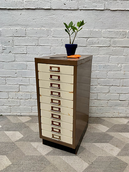 Small Metal Filing Cabinet Drawers Office #D27