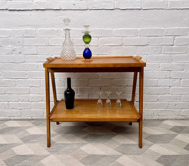 Vintage Drinks Trolley with Tray by Remploy