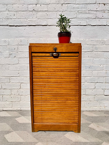 Vintage Filing Cabinet Tambour Haberdashery Small #D187