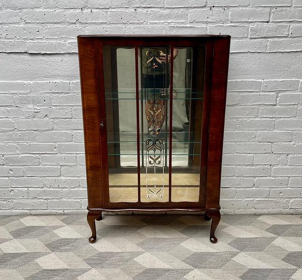 Art Deco Glass Display Cabinet Cupboard