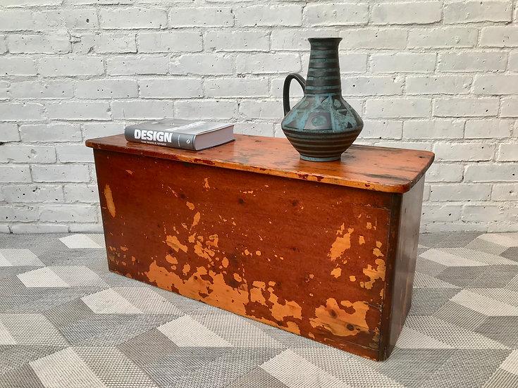 Vintage Wooden Storage Chest Box #404