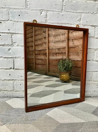 Vintage Retro Wooden Mirror Rectangular #566