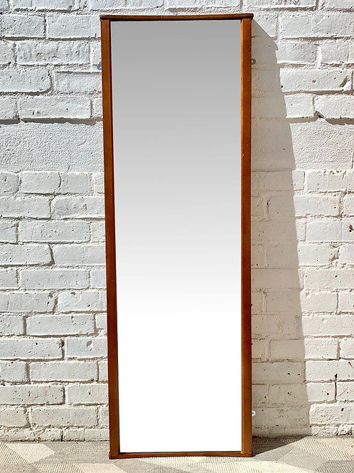 Vintage Teak Wall Mirror