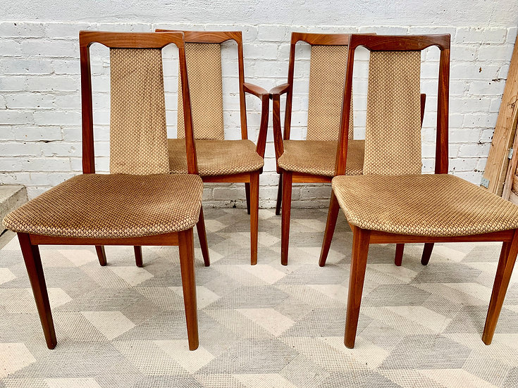 Set of 4 Vintage G Plan Dining Chairs Teak #D403