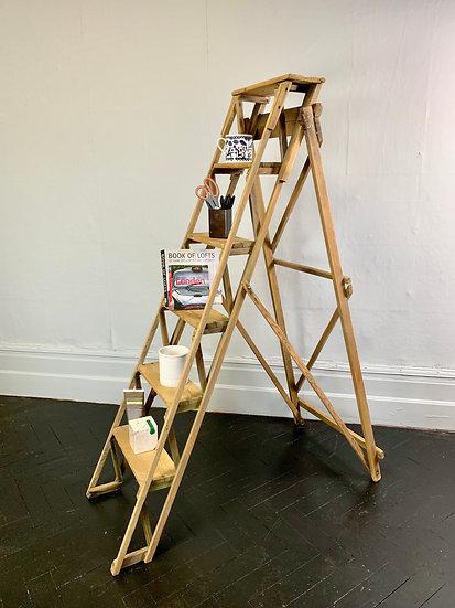 Vintage Wooden Ladder Prop Shelving #924