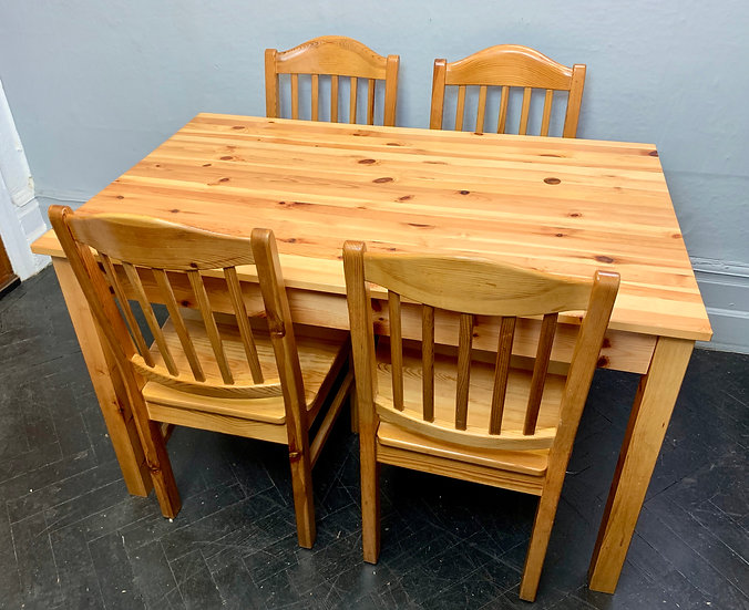 Wooden Dining Table and Chairs Set #D99