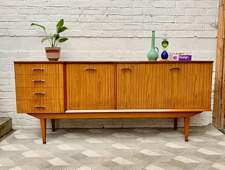 Vintage Sideboard Drinks Cabinet with Drawers