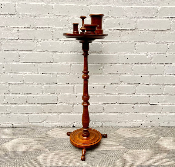 Antique Side Table Smokers Stand  front