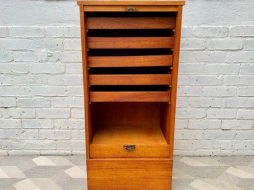 Vintage Tambour Cabinet Cupboard Haberdashery #D370