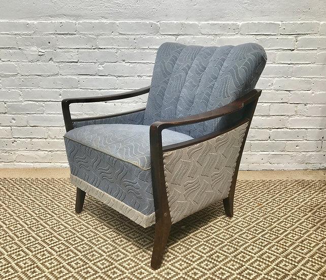 Blue Art Deco Armchair #195 (pair available)