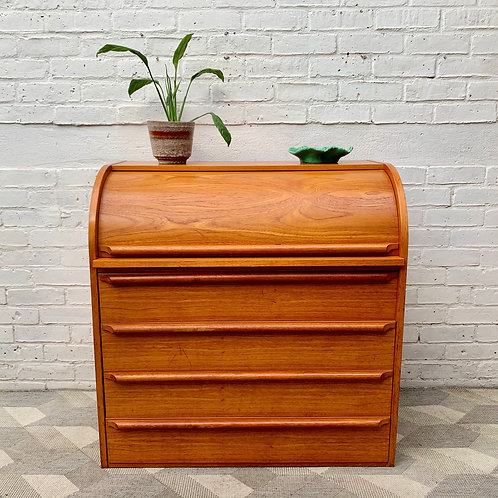 Vintage Bureau Desk with Drawers Teak Danish #D280