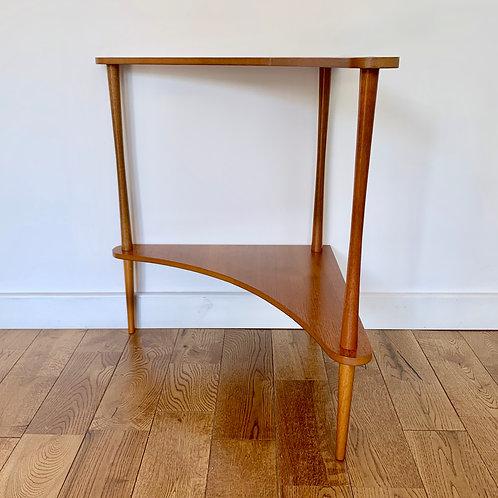 Vintage Teak Corner Table #D77